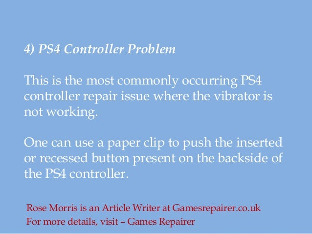 Common PS4 Repair Problems and its Solutions