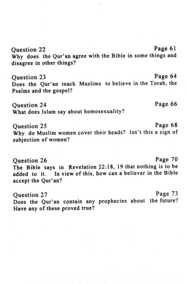 Common questions people ask about islam