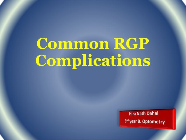 Common RGP Complications