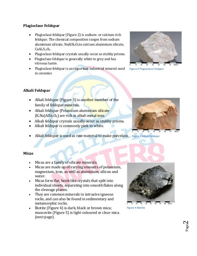 Six common rock forming minerals for Soil forming minerals