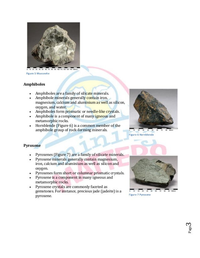 Calcium Silicate Rocks : Six common rock forming minerals