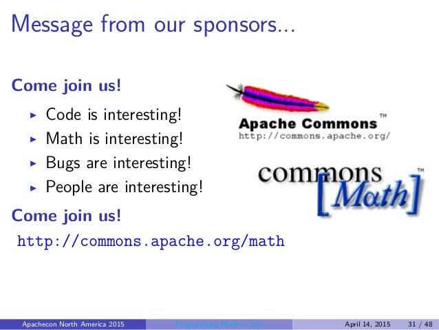 Programming Math in Java - Les...