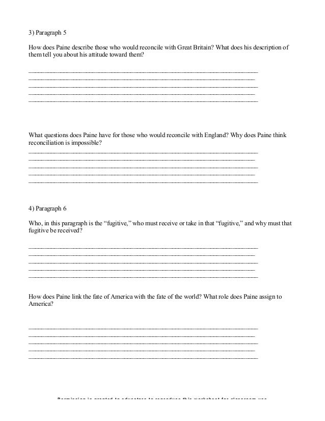 Printable Worksheets reconciliation worksheets : Common sense activity 1