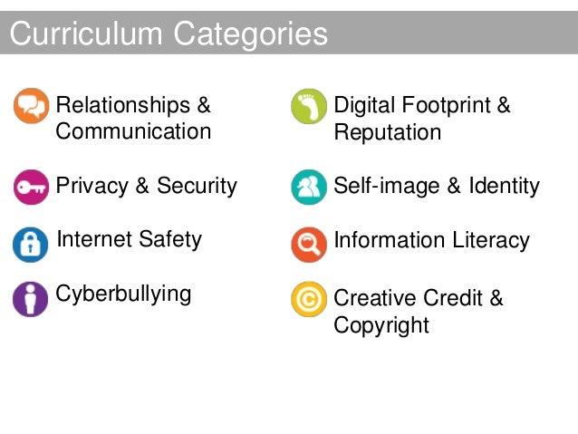 Curriculum Categories • Relationships &      • Digital Footprint &   Communication          Reputation • Privacy & Securit...