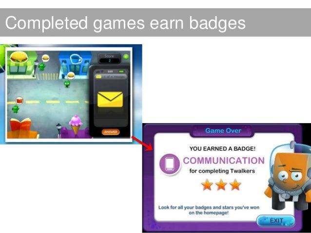 Completed badges = certificateCompleted badges = certificate