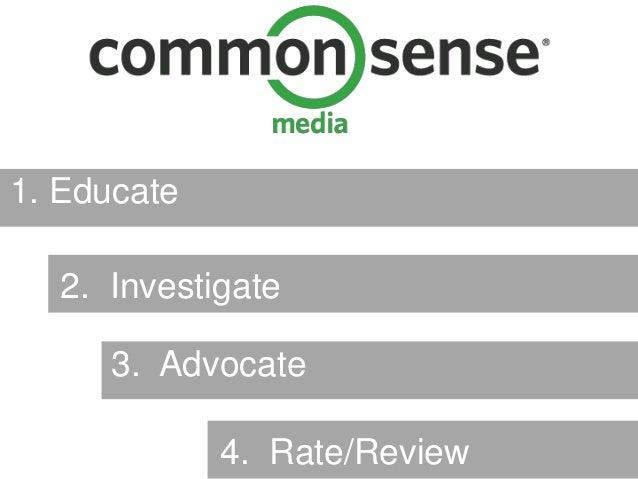 1. Educate  2. Investigate     3. Advocate             4. Rate/Review