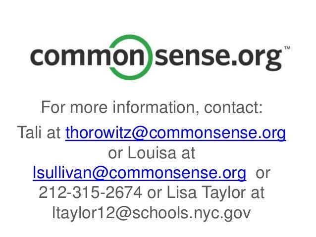 Common sense ppt