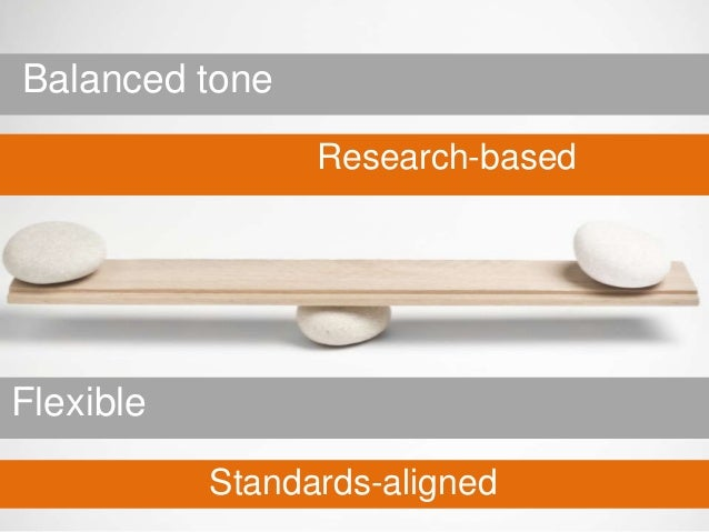 Balanced tone                 Research-basedFlexible           Standards-aligned
