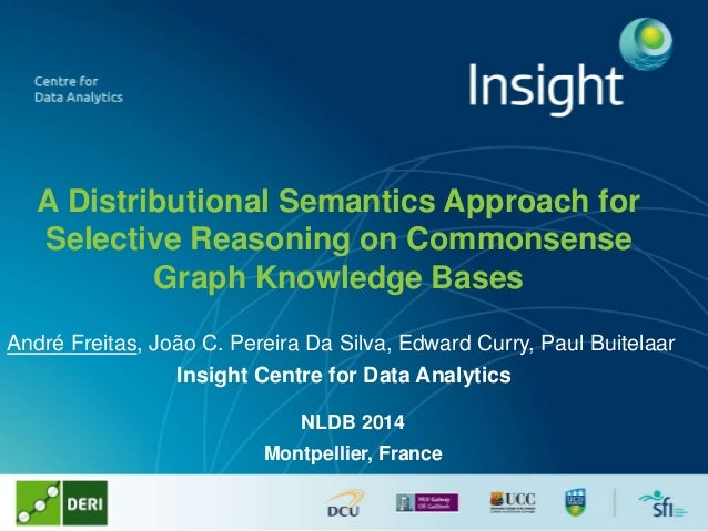 A Distributional Semantics Approach for Selective Reasoning on Commonsense Graph Knowledge Bases André Freitas, João C. Pe...
