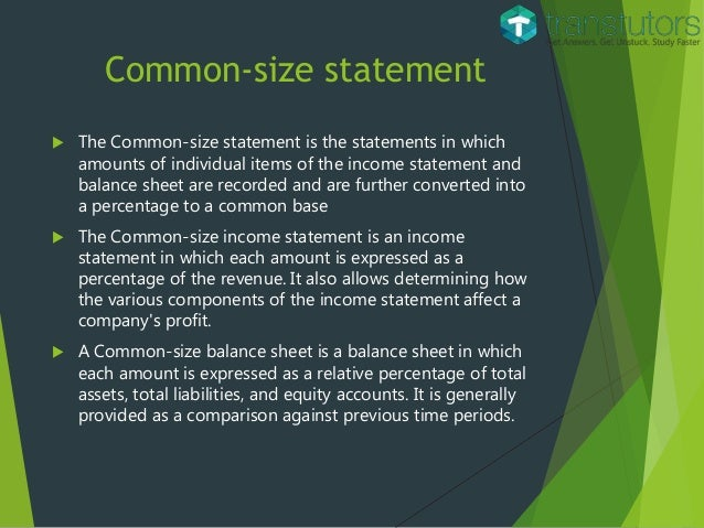 common size income statement and balance sheet This income statement and vertical analysis template comes complete with common income statement line items just like in our balance sheet template, it's easier to.
