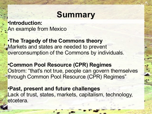examples of the tragedy of the commons
