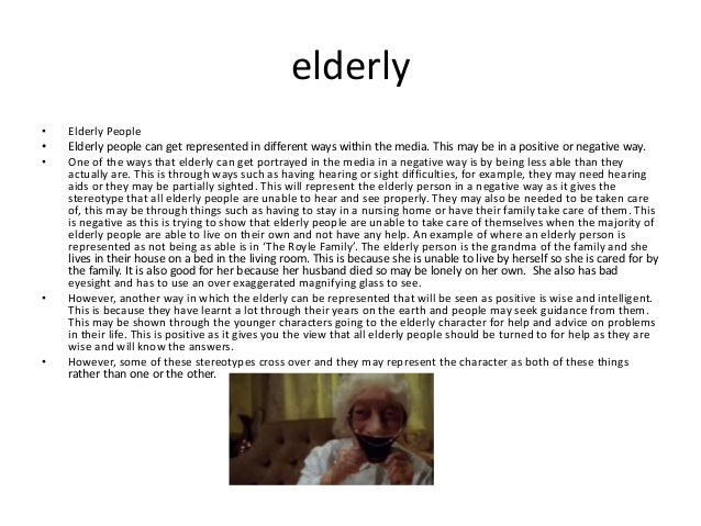 Elderly stereotypes essay