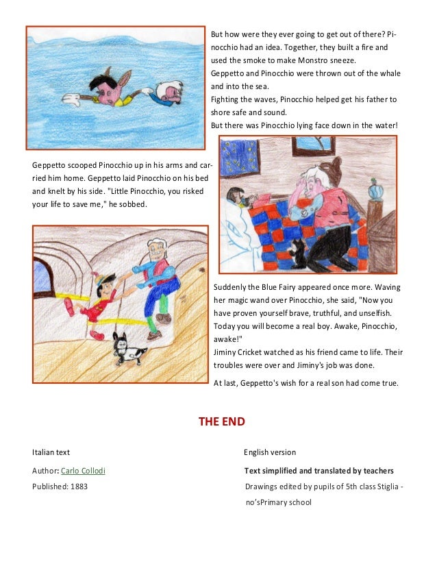 pinocchio story book report 2018-08-20 read common sense media's pinocchio (2018) review, age rating,  the story is freely adapted from 'le avventure di pinocchio,' by collodi  the 19th-century author of the original book.