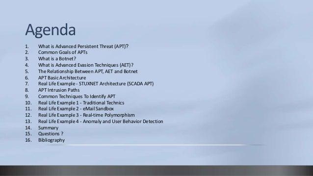 Common Techniques To Identify Advanced Persistent Threat (APT) Slide 3