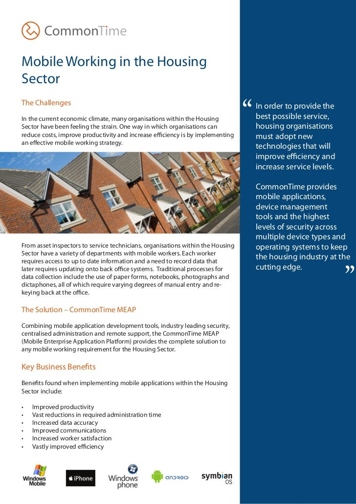 """Mobile Working in the HousingSector                                                                                 """"The C..."""