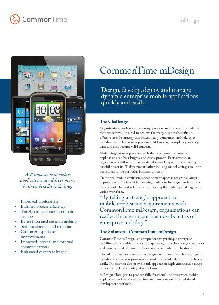 mDesign                                      CommonTime mDesign                                       Design, develop, dep...