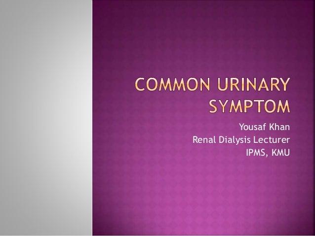Yousaf Khan Renal Dialysis Lecturer IPMS, KMU