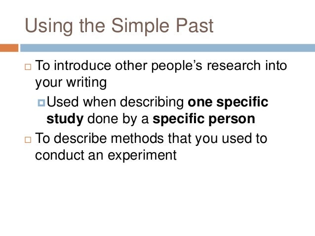 thesis methodology past tense