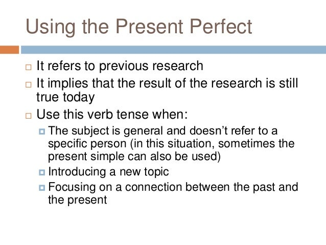 Academic writing help verb tense