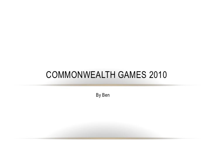 By Ben<br />Commonwealth games 2010<br />