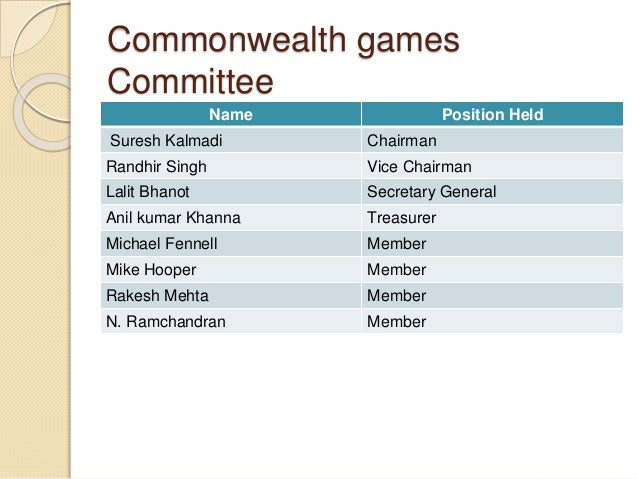 commonwealth games scam commonwealth games