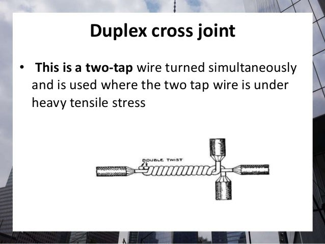 different types of splices and joints in electricity pdf