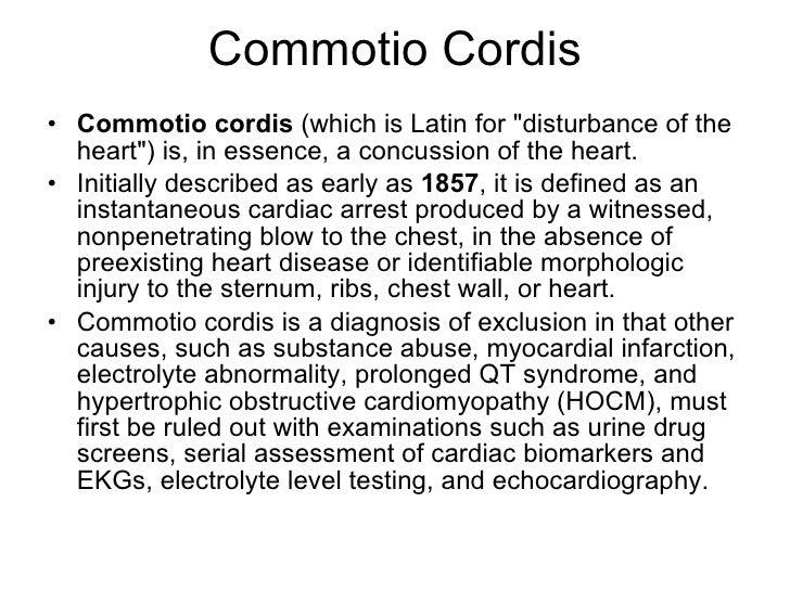 Commotio cordis