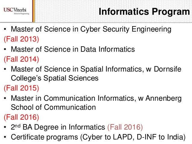 Informatics Master\'s Programs at USC (webinar)