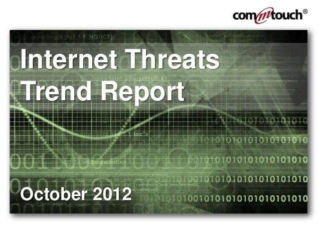 Internet ThreatsTrend ReportOctober 2012
