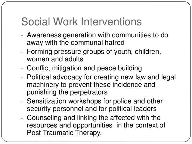 social worker intervention