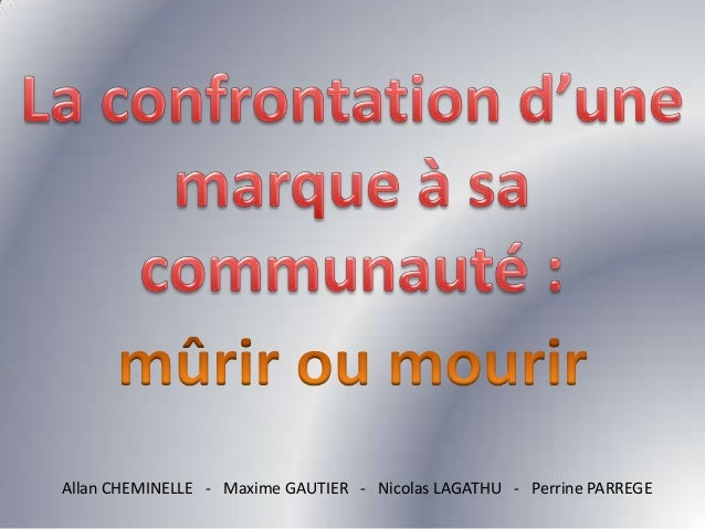 Allan CHEMINELLE - Maxime GAUTIER - Nicolas LAGATHU - Perrine PARREGE