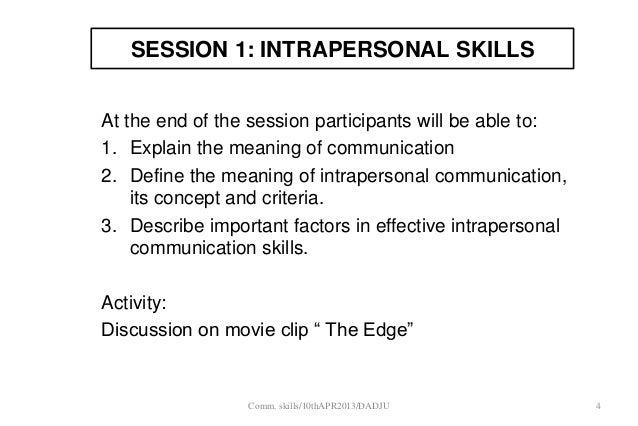 define intrapersonal skills