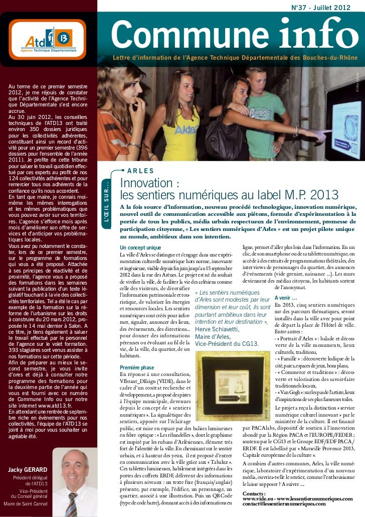 N°37 - Juillet 2012                                                                     Commune info                      ...