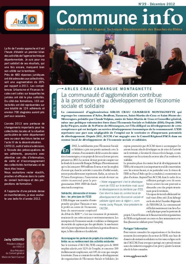 N°39 - Décembre 2012                                                                 Commune info                         ...