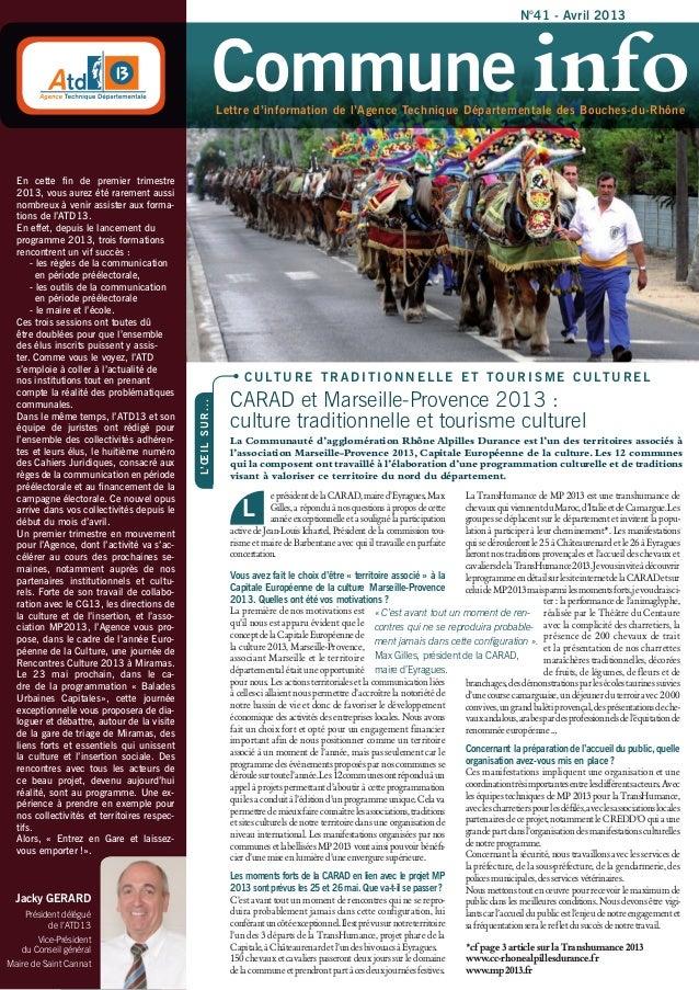 N°41 - Avril 2013                                                                    Commune info                         ...