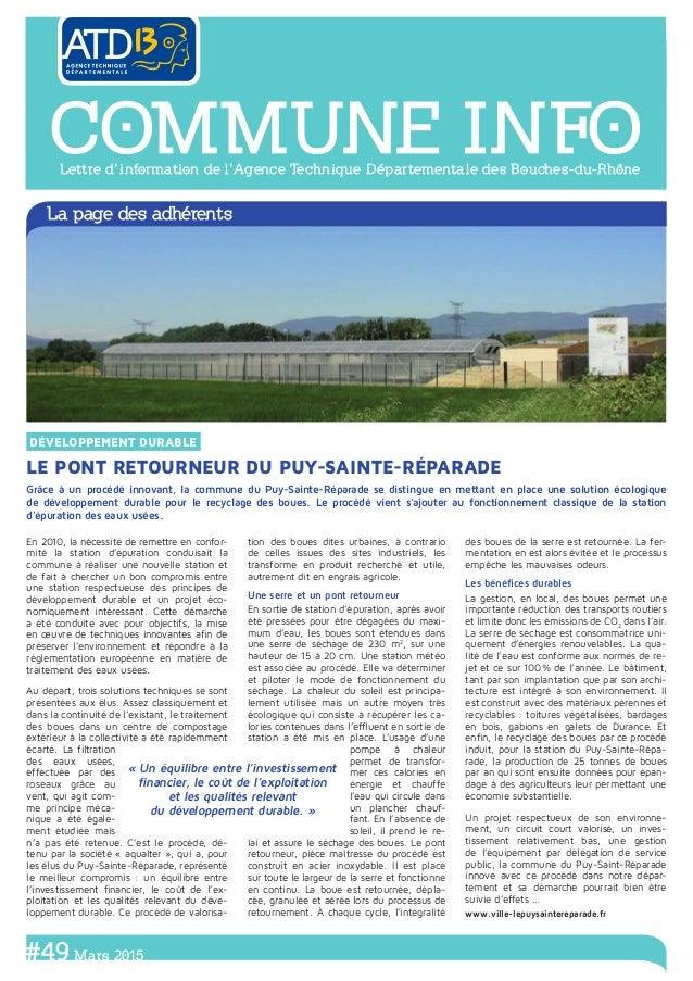 Grâce à un procédé innovant, la commune du Puy-Sainte-Réparade se distingue en mettant en place une solution écologique de...