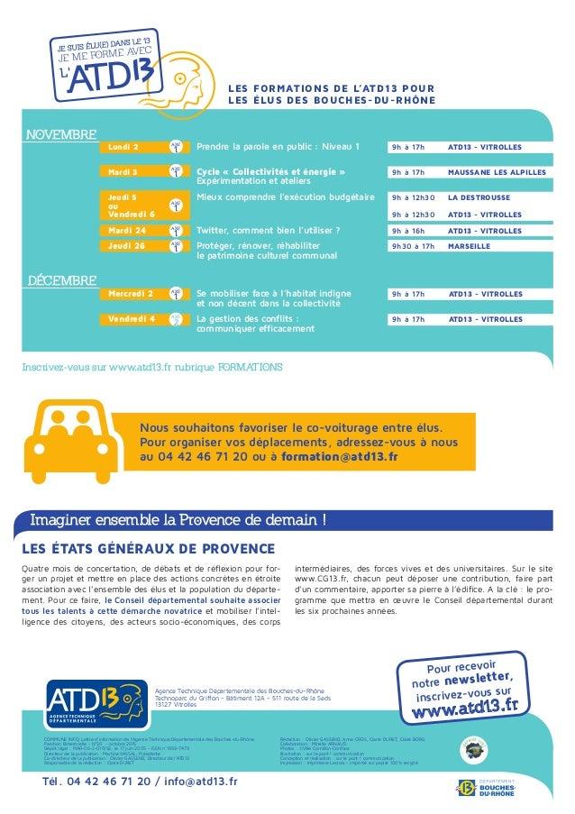 Pour recevoir notre newsletter, inscrivez-vous sur www.atd13.fr Agence Technique Départementale des Bouches-du-Rhône Techn...