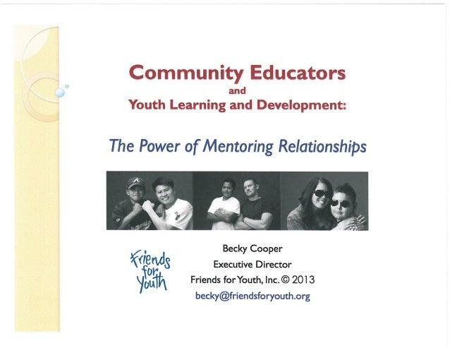 Community Educators Symposium