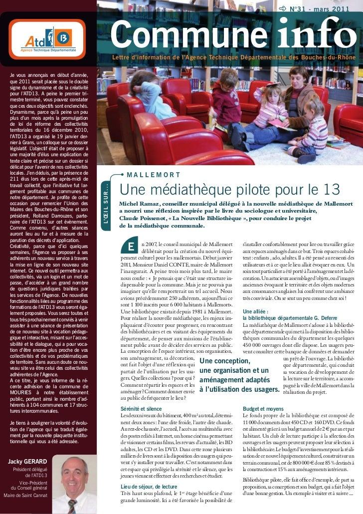 N°31 - mars 2011                                                                         Commune info                     ...
