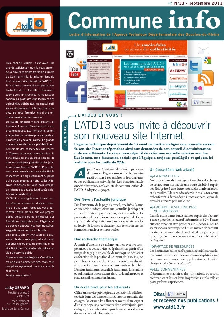 N°33 - septembre 2011                                                                        Commune info                 ...