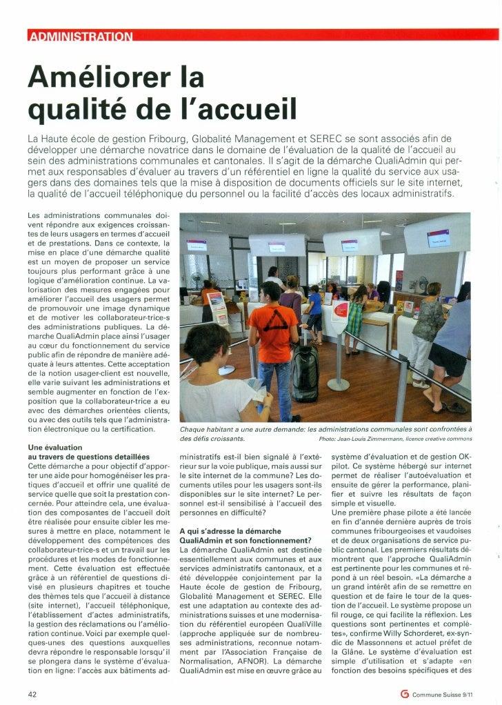 Améliorer laqualité de laccueilLa Haute école de gestion Fribourg, Globalité Management et SEREe se sont associés afin ded...