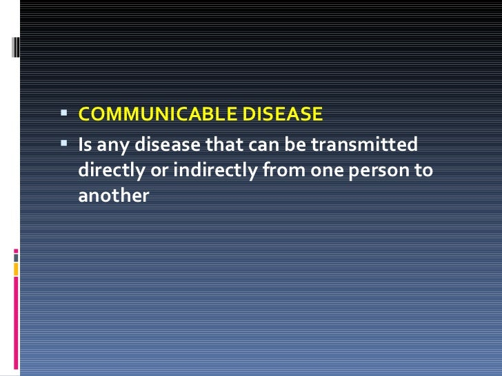 Nursing Lecture on Communicable Disease Slide 3