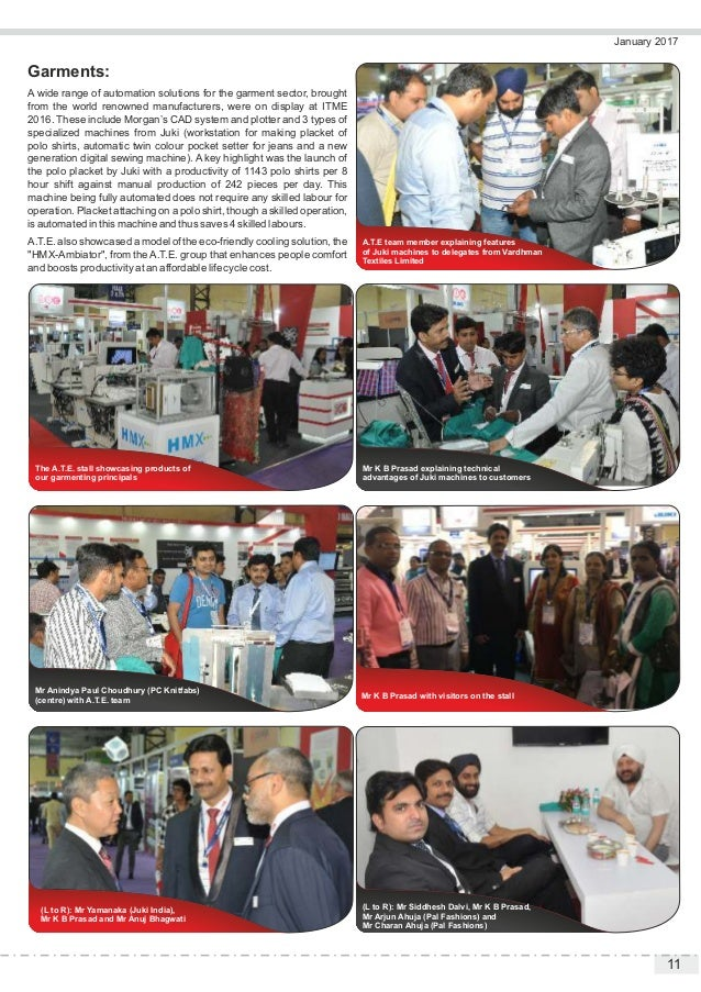 11 January 2017 Garments: A wide range of automation solutions for the garment sector, brought from the world renowned man...