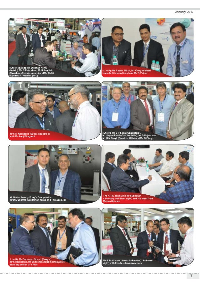 7 January 2017 (L to R): Mr Rajeev Mittal, Mr Vinayak Mittal from Aarti International and Mr G V Aras (L to R seated): Mr ...