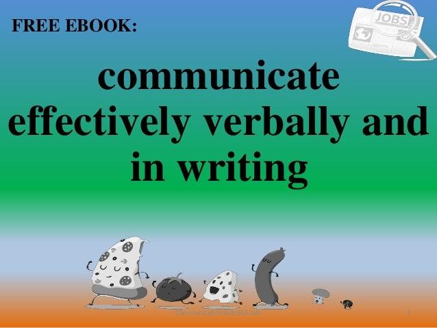 To communicate 1 pdf writing