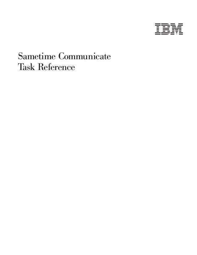 Sametime Communicate Task Reference