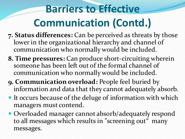 barriers to effective communication and how Single sentence summary: this paper identifies and assesses the barriers to effective communication in the nigerian construction industry using attribution theory paradigm suggesting that ineffective reporting systems and poor leadership are ranked as the most significant barriers to effective communication abstract:.