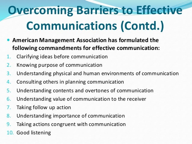 7 barriers of communication