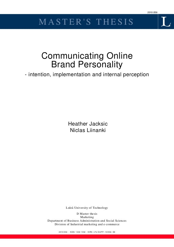 Internal communication bachelor thesis