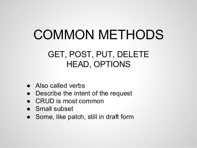 Get post put delete head options head